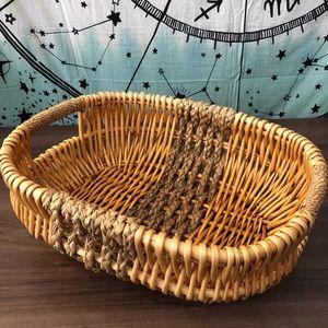 Vintage Boho Wicker Woven Basket